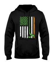 Irish American Hockey Flag Shirt Hockey St Patrick Hooded Sweatshirt front
