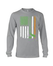 Irish American Hockey Flag Shirt Hockey St Patrick Long Sleeve Tee thumbnail