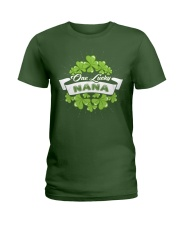 ONE LUCKY NANA IRISH Ladies T-Shirt thumbnail