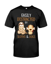 Easily Distracted By Sloths And Dogs Tshirt Sloth Premium Fit Mens Tee thumbnail