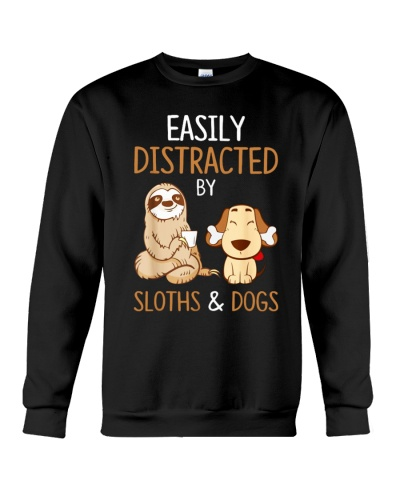 Easily Distracted By Sloths And Dogs Tshirt Sloth