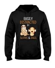 Easily Distracted By Sloths And Dogs Tshirt Sloth Hooded Sweatshirt thumbnail