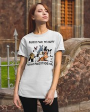 RABBITS MAKE ME HAPPY Classic T-Shirt apparel-classic-tshirt-lifestyle-06