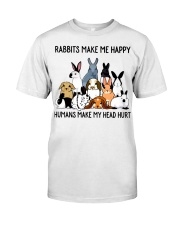 RABBITS MAKE ME HAPPY Classic T-Shirt front