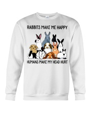 RABBITS MAKE ME HAPPY Crewneck Sweatshirt tile