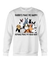 RABBITS MAKE ME HAPPY Crewneck Sweatshirt thumbnail