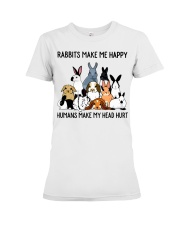 RABBITS MAKE ME HAPPY Premium Fit Ladies Tee thumbnail