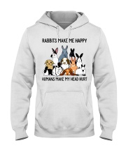 RABBITS MAKE ME HAPPY Hooded Sweatshirt thumbnail