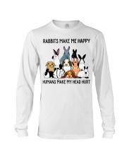 RABBITS MAKE ME HAPPY Long Sleeve Tee thumbnail