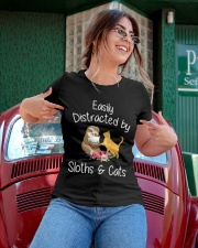 Easily Distracted By Sloths And Cats Tshirt Sloth Ladies T-Shirt apparel-ladies-t-shirt-lifestyle-01