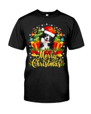 Merry Christmas Border Collie Mom Dad Christmas Premium Fit Mens Tee thumbnail
