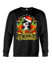 Merry Christmas Border Collie Mom Dad Christmas Crewneck Sweatshirt thumbnail