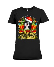 Merry Christmas Border Collie Mom Dad Christmas Premium Fit Ladies Tee thumbnail