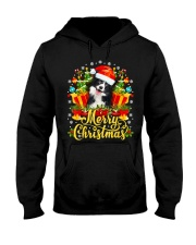 Merry Christmas Border Collie Mom Dad Christmas Hooded Sweatshirt thumbnail