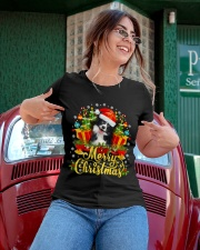 Merry Christmas Border Collie Mom Dad Christmas Ladies T-Shirt apparel-ladies-t-shirt-lifestyle-01