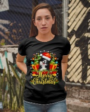 Merry Christmas Border Collie Mom Dad Christmas Ladies T-Shirt apparel-ladies-t-shirt-lifestyle-03