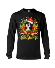 Merry Christmas Border Collie Mom Dad Christmas Long Sleeve Tee thumbnail