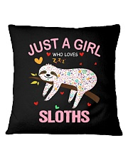 Just a Girl Who Loves Sloths T-Shirt Gift For Slot Square Pillowcase thumbnail