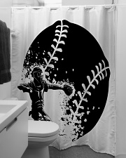 Best Baseball Lovers Gift Shower Curtain aos-shower-curtains-71x74-lifestyle-front-04