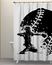 Best Baseball Lovers Gift Shower Curtain aos-shower-curtains-71x74-lifestyle-front-05