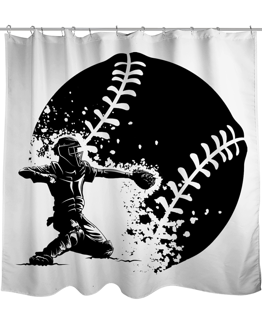 Best Baseball Lovers Gift Shower Curtain