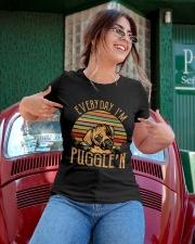 Every Day I'm Puggle'n T Shirt Ladies T-Shirt apparel-ladies-t-shirt-lifestyle-01