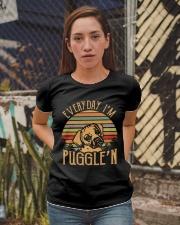 Every Day I'm Puggle'n T Shirt Ladies T-Shirt apparel-ladies-t-shirt-lifestyle-03