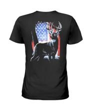 I Live Hunting - Usa Ladies T-Shirt thumbnail