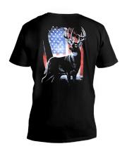 I Live Hunting - Usa V-Neck T-Shirt thumbnail