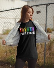 Paws Cat Purride Shirt Classic T-Shirt apparel-classic-tshirt-lifestyle-07