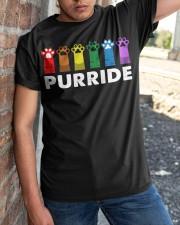 Paws Cat Purride Shirt Classic T-Shirt apparel-classic-tshirt-lifestyle-27