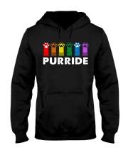Paws Cat Purride Shirt Hooded Sweatshirt thumbnail