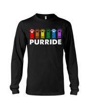 Paws Cat Purride Shirt Long Sleeve Tee thumbnail