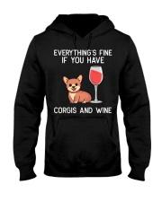 Corgie Wine Welsh Corgi Dog Red Wine Lover Gift N4 Hooded Sweatshirt thumbnail