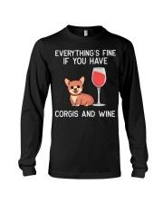 Corgie Wine Welsh Corgi Dog Red Wine Lover Gift N4 Long Sleeve Tee thumbnail