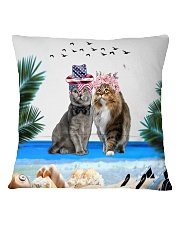 cat pilliow Square Pillowcase back