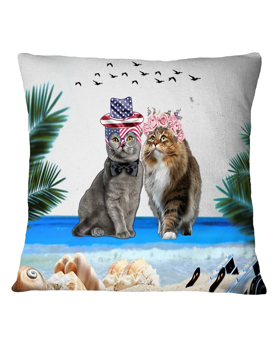cat pilliow Square Pillowcase