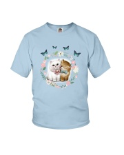 cat pillow Youth T-Shirt tile