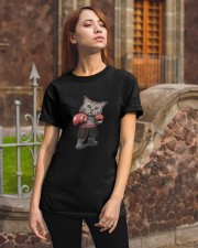 t-shirt boxing cat  Classic T-Shirt apparel-classic-tshirt-lifestyle-06