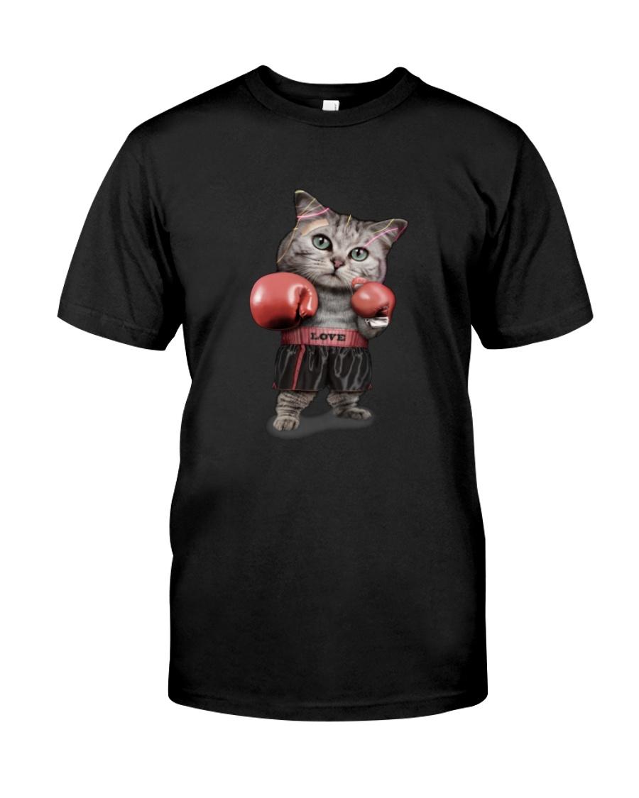 t-shirt boxing cat  Classic T-Shirt