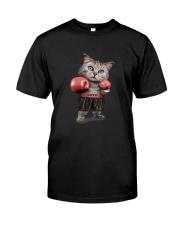 t-shirt boxing cat  Classic T-Shirt front