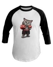 t-shirt boxing cat  Baseball Tee thumbnail