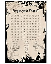 Forget your phone 11x17 Poster front