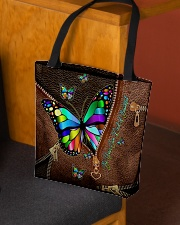 Be Your Own Kind of Beautiful Leather pattern All-over Tote aos-all-over-tote-lifestyle-front-02