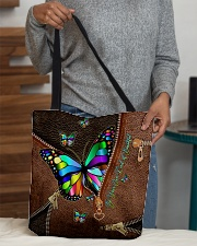 Be Your Own Kind of Beautiful Leather pattern All-over Tote aos-all-over-tote-lifestyle-front-10