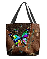Be Your Own Kind of Beautiful Leather pattern All-over Tote back