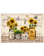 It is well with my soul Christian hymn 17x11 Poster front