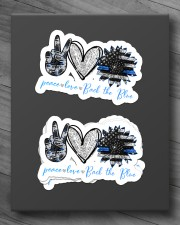 Peace Love Back the blue Sticker - 4 pack (Horizontal) aos-sticker-4-pack-horizontal-lifestyle-front-10
