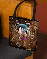 Stay out of my bubble Leather pattern print All-over Tote aos-all-over-tote-lifestyle-front-02