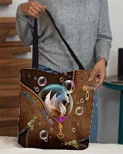 Stay out of my bubble Leather pattern print All-over Tote aos-all-over-tote-lifestyle-front-10